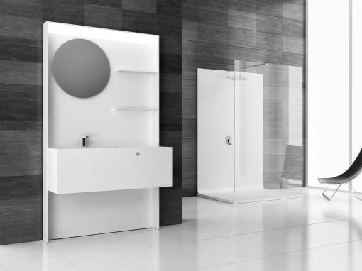 Naos Design è un nuovo marchio che si occupa di arredo bagno su misura in Corian. La mission di questa nuova realtà è di presentare la stanza del bagno come un luogo privilegiato all'interno dell'abitazione. Il brand propone quindi una serie di nuove collezioni con la possibilità di personalizzarle e adeguarle a tutti gli spazi. Atlante e Demetra rappresentano il marchio attraverso la loro funzionalità e un forte valore estetico. Il sistema parete-lavabo Atlante concentra in un unico prodotto tutte le funzioni legate alla zona lavabo e può essere considerato un nuovo rivestimento. La collezione Demetra unisce superfici totalizzanti e funzionali nella prestazione all'eleganza nelle linee minimali, il raccordo a parete consente massima flessibilità e componibilità.