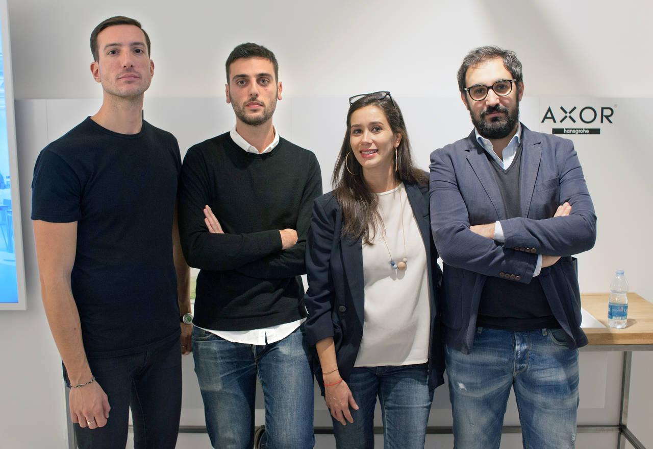 Da sinistra: Paolo Giacomazzi, Philippe Tabet, Valentina Antinori (Studio Tagmi) e Francesco Fusillo