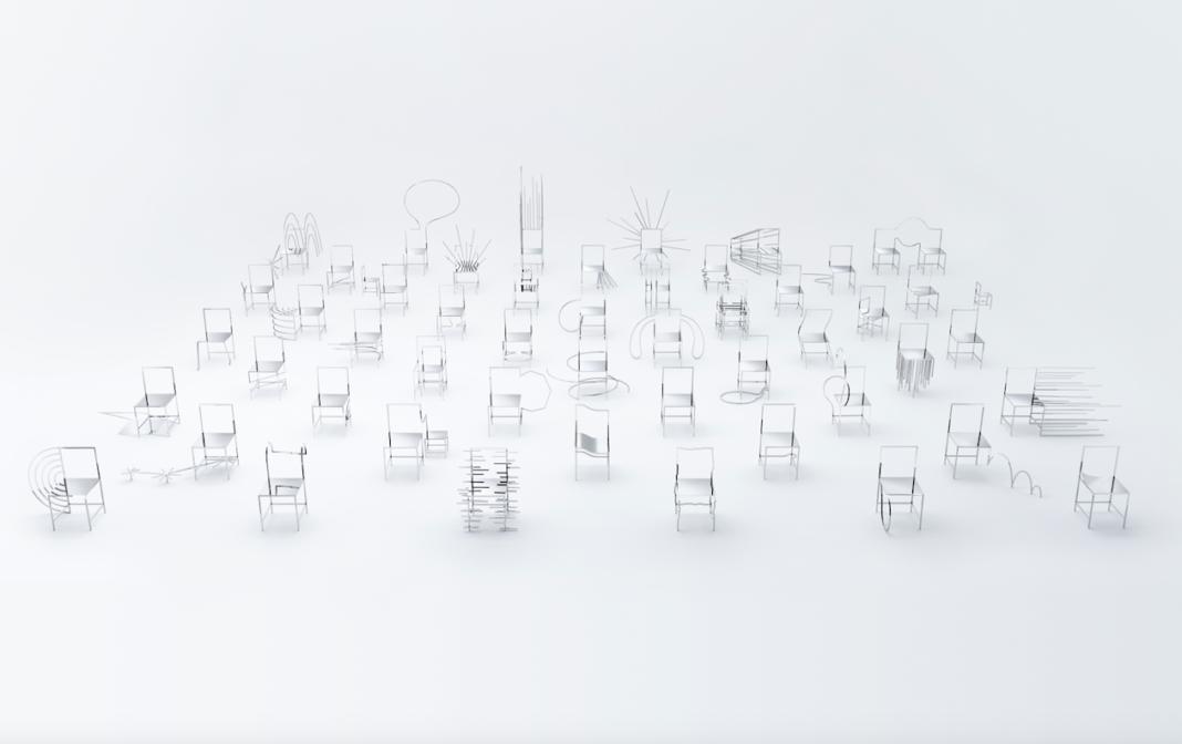 50 Manga Chairs by Nendo (Photo by Kenichi Sonehara)
