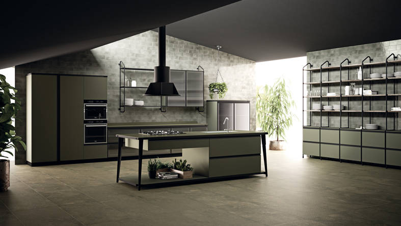 Diesel Open Workshop Kitchen by Scavolini e Diesel