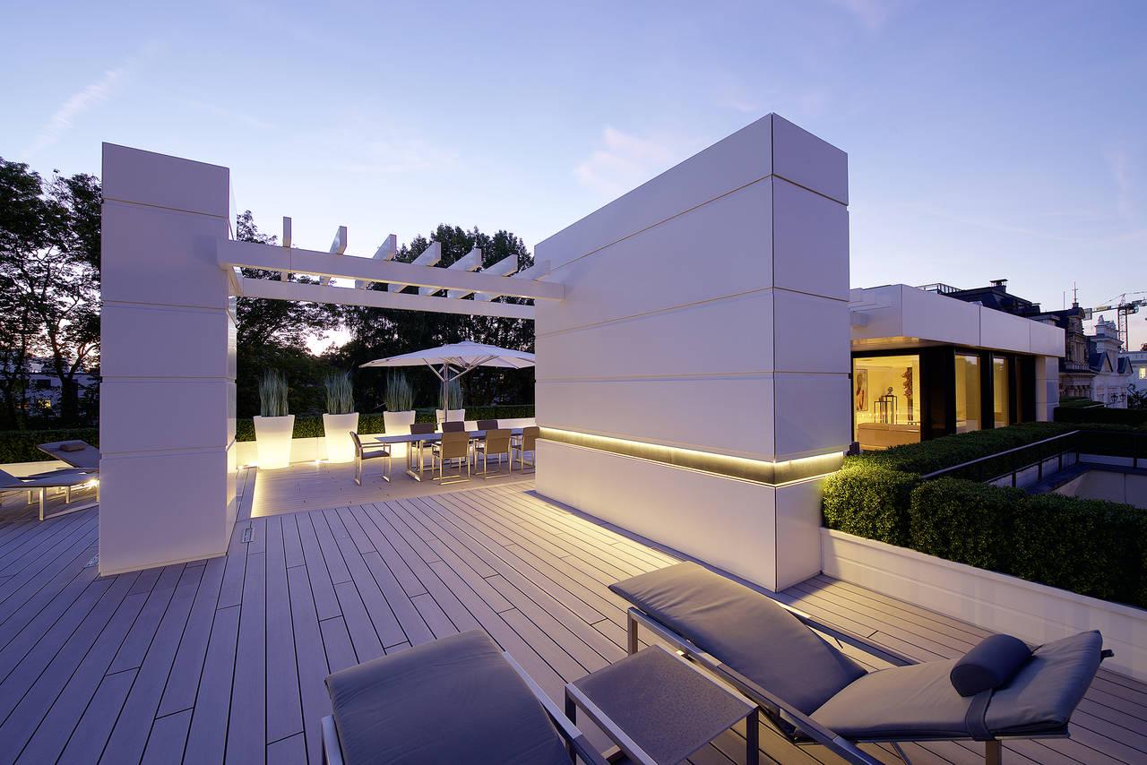 Hi-macs per la ristrutturazione di una penthouse ad Amburgo