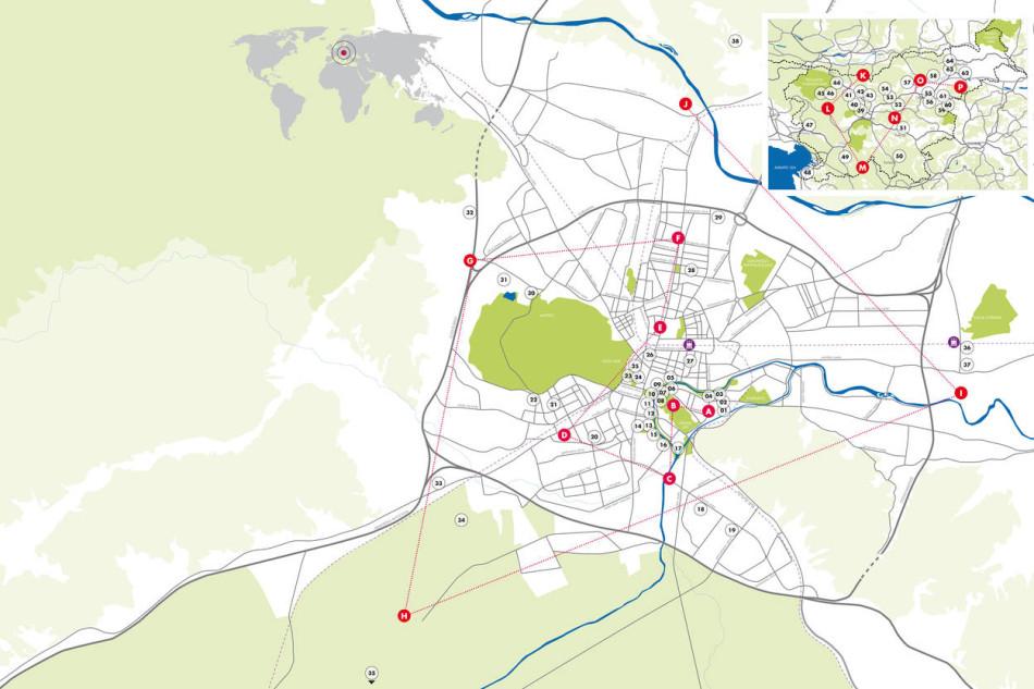 mappa Ljubljana