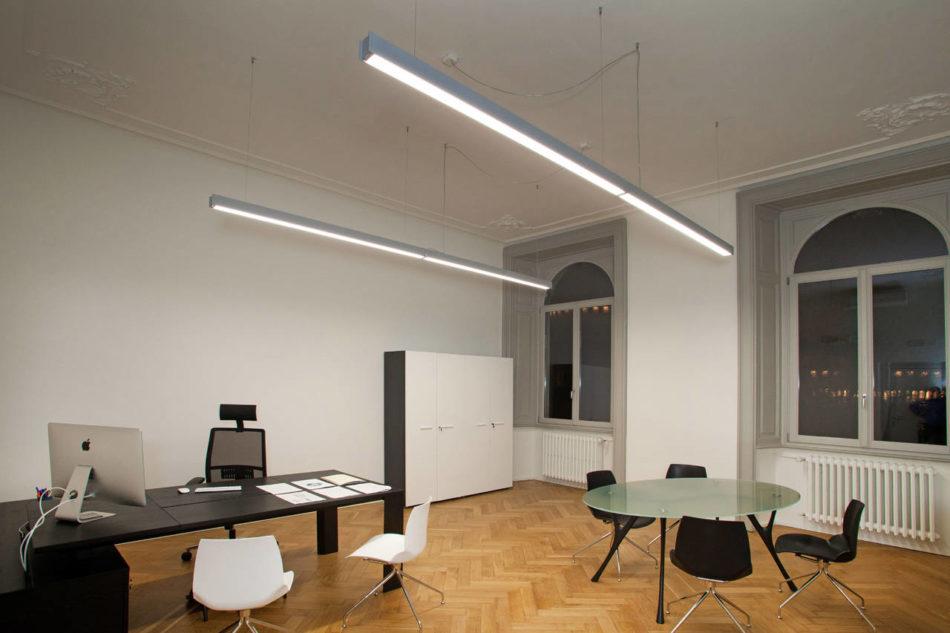 Rossini illuminazione per gli uffici della metro 4 di milano for On off illuminazione milano