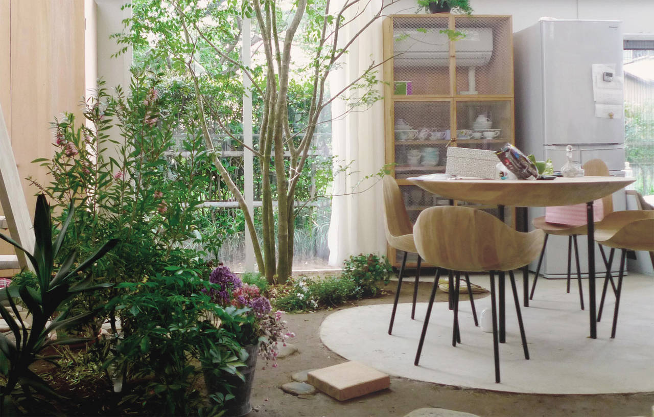 Casa con piante, Tokyo 2010-2012. Veduta dall'interno (photo by Junya.Ishigami+associates)