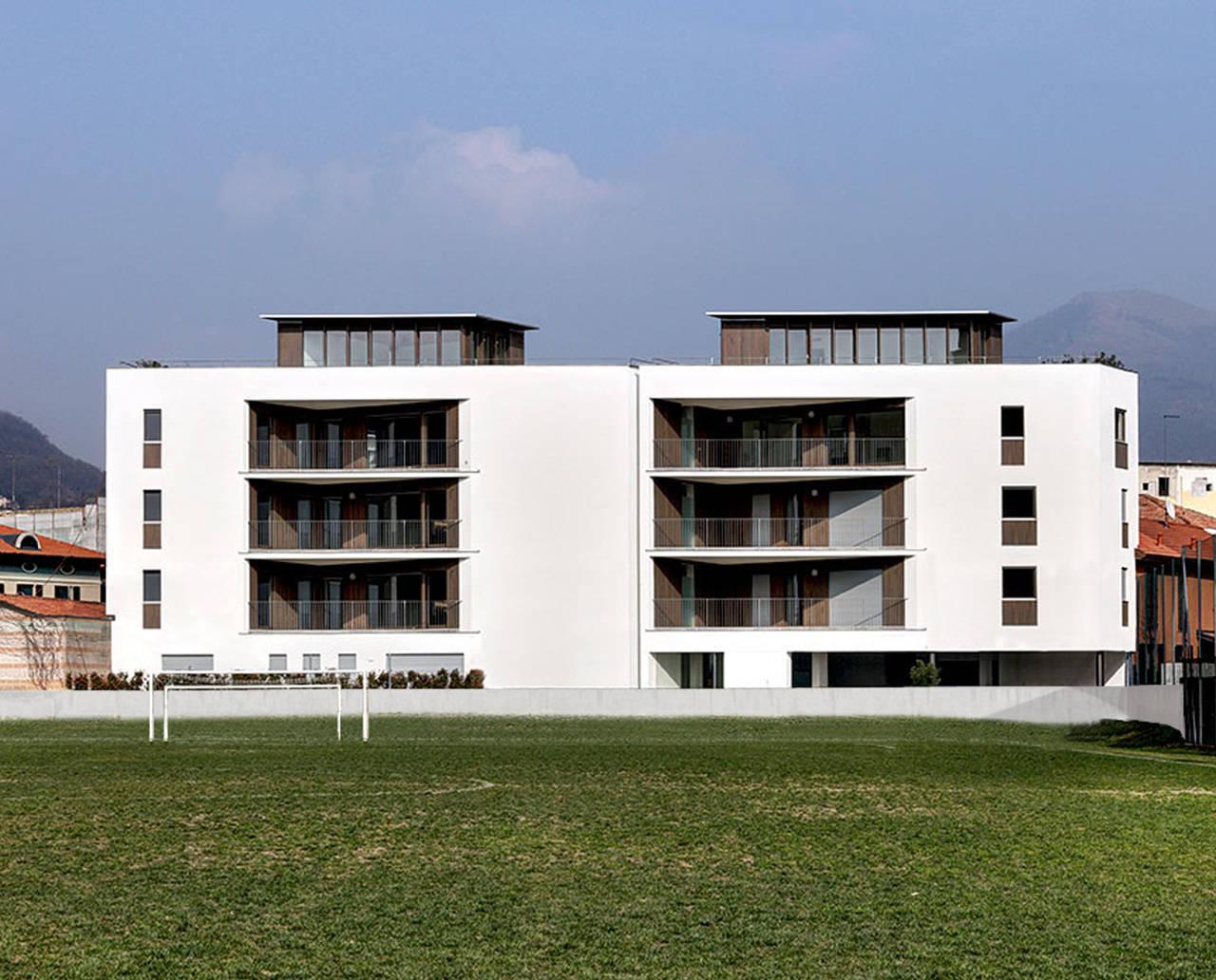 1° Premio Categoria A - Nuove Costruzioni, arch. Marco Ortalli e arch. Dario Cazzaniga