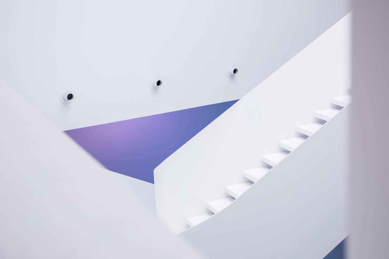 Scala della nuova ala progettata da Maurice nio - photo by Ivan D'Alì