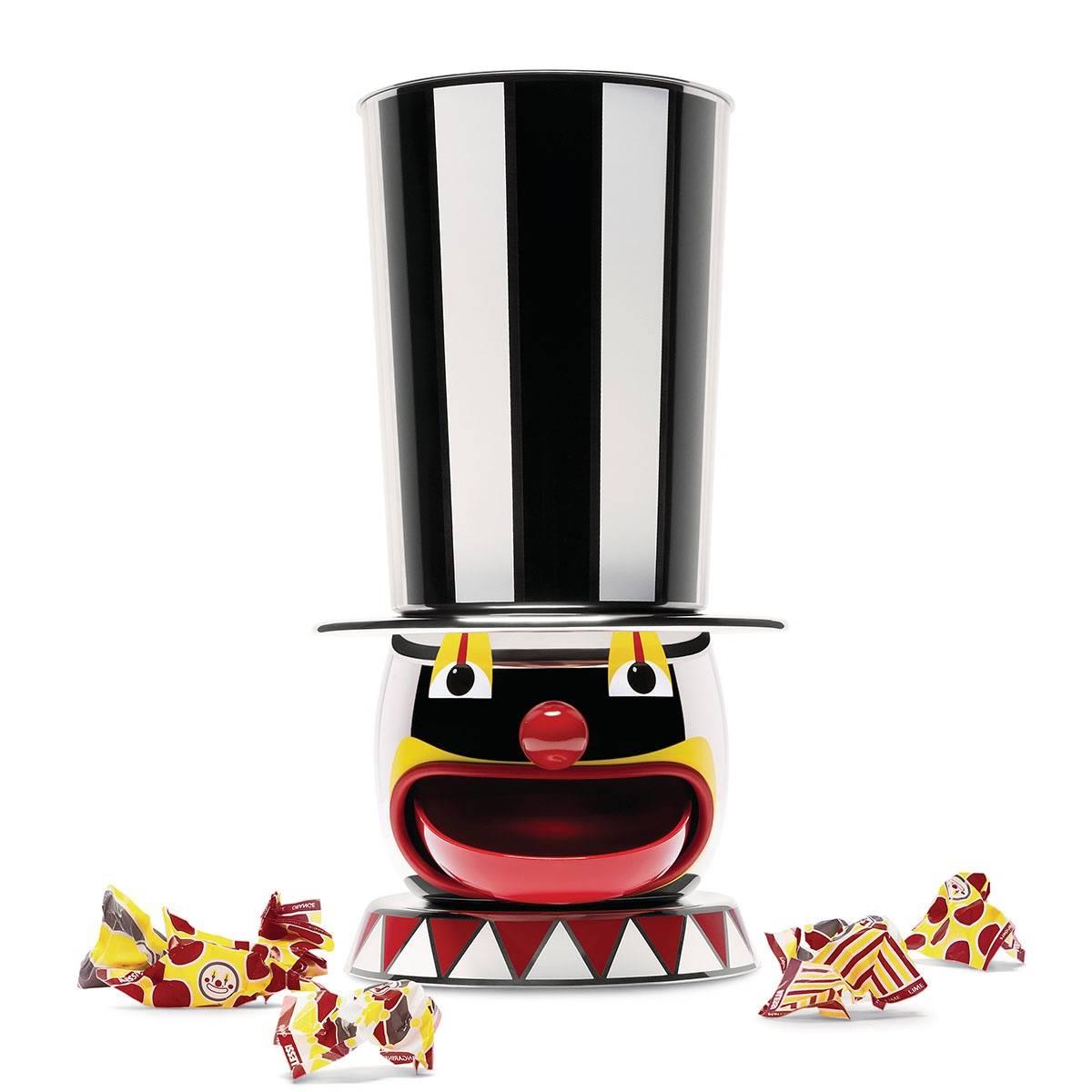 Distributore di caramelle in acciaio inossidabile 18/10 realizzato mediante due diversi processi di lavorazione