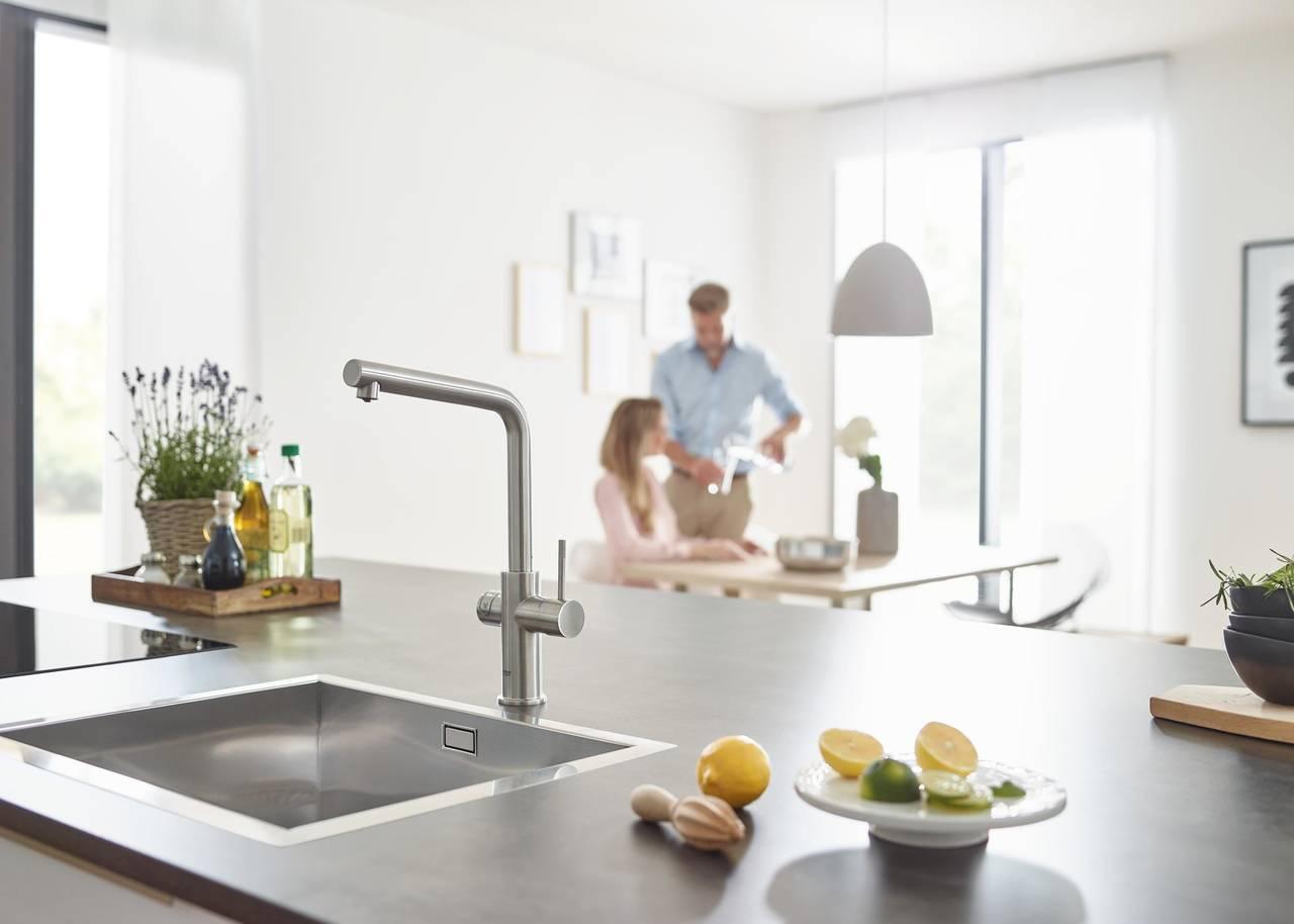 grohe blue home acqua fresca e filtrata in cucina area. Black Bedroom Furniture Sets. Home Design Ideas