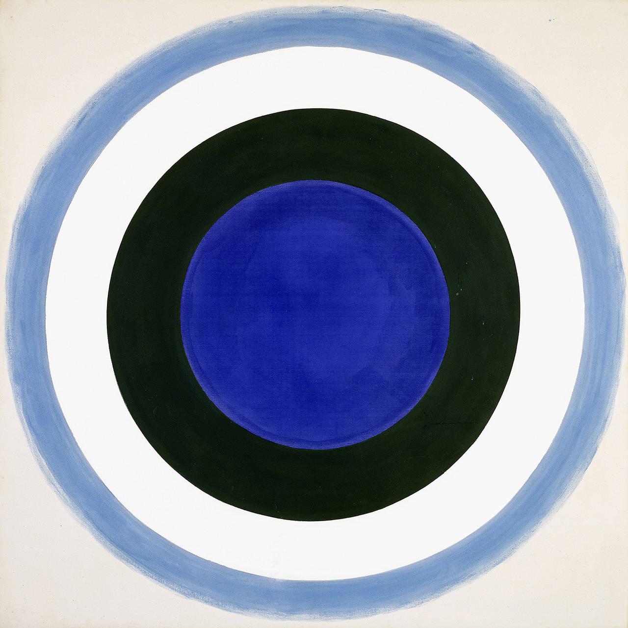 Kenneth Noland, Blue Extent, 1962, acrilico su tela. Collezione privata. © 2016 Foto Scala Firenze.