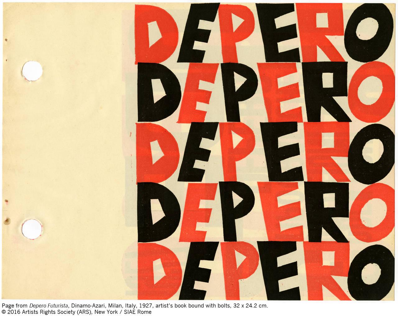 Il libro imbullato di Fortunato Depero