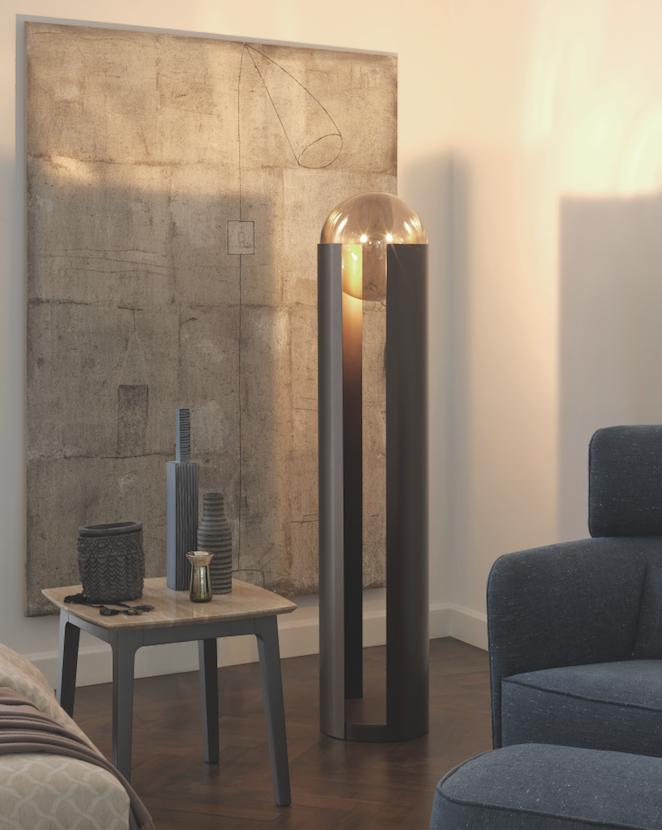 Lampada da terra Swoftwing, design Carlo Colombo