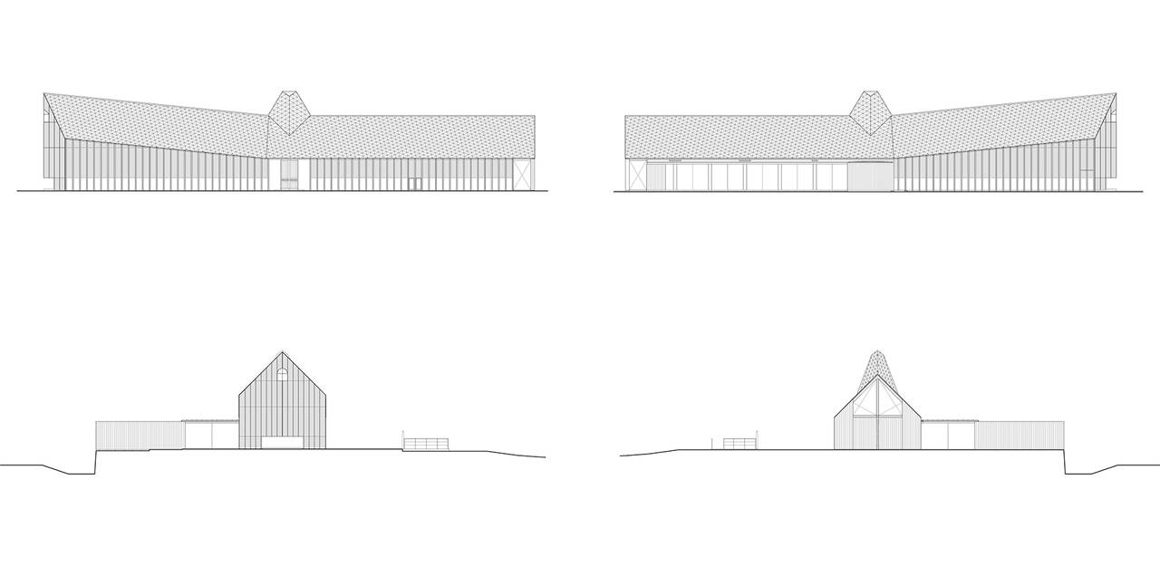 Church Elevation Plan : Church of sky area