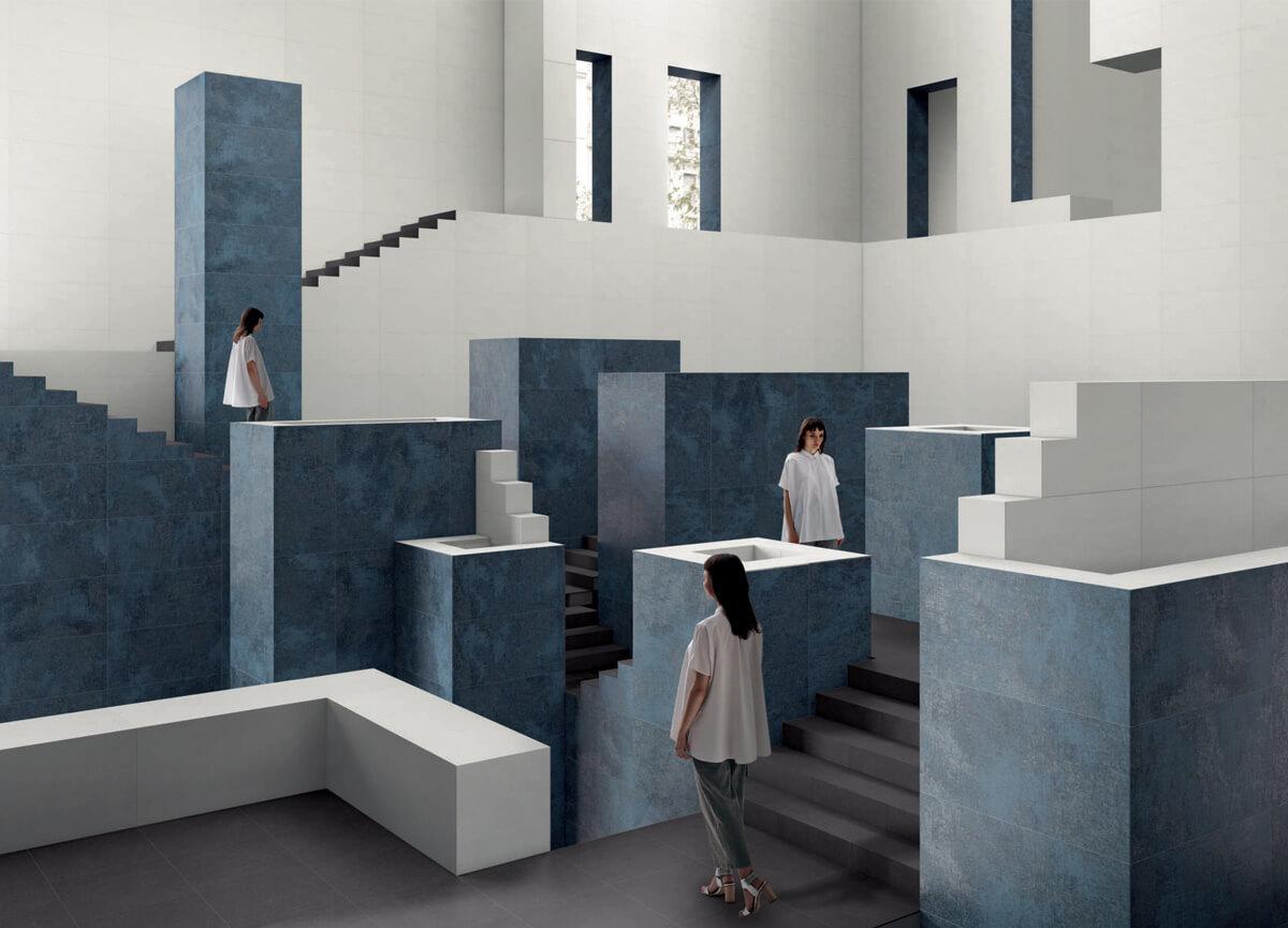 otto colori e quattro decori per layers by ceramiche caesar. Black Bedroom Furniture Sets. Home Design Ideas