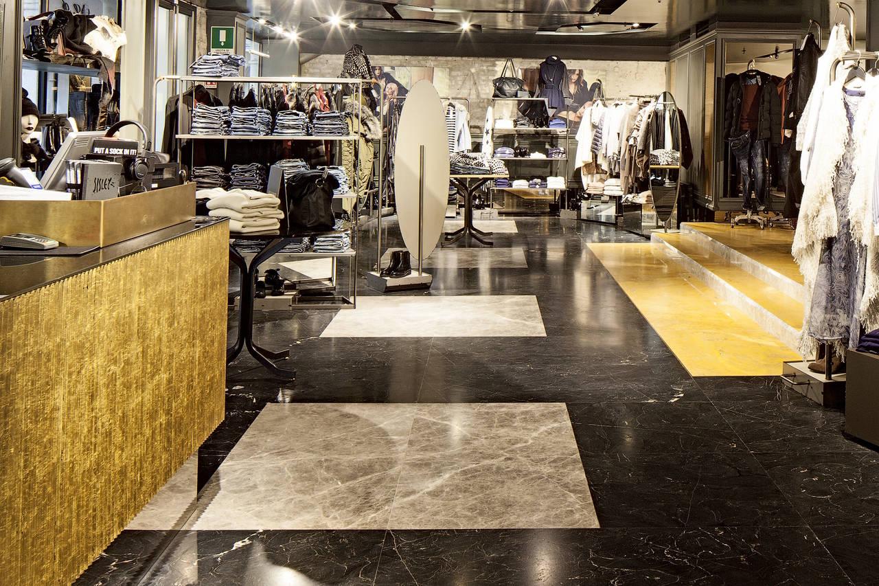 Il marmo Margraf per lo Store Rich&Raw di Sisley a Venezia