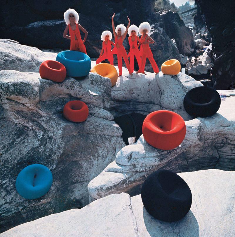 Klaus Zaugg, campagna pubblicitaria per il lancio della serie UP di Gaetano Pesce, C&B Italia, 1969