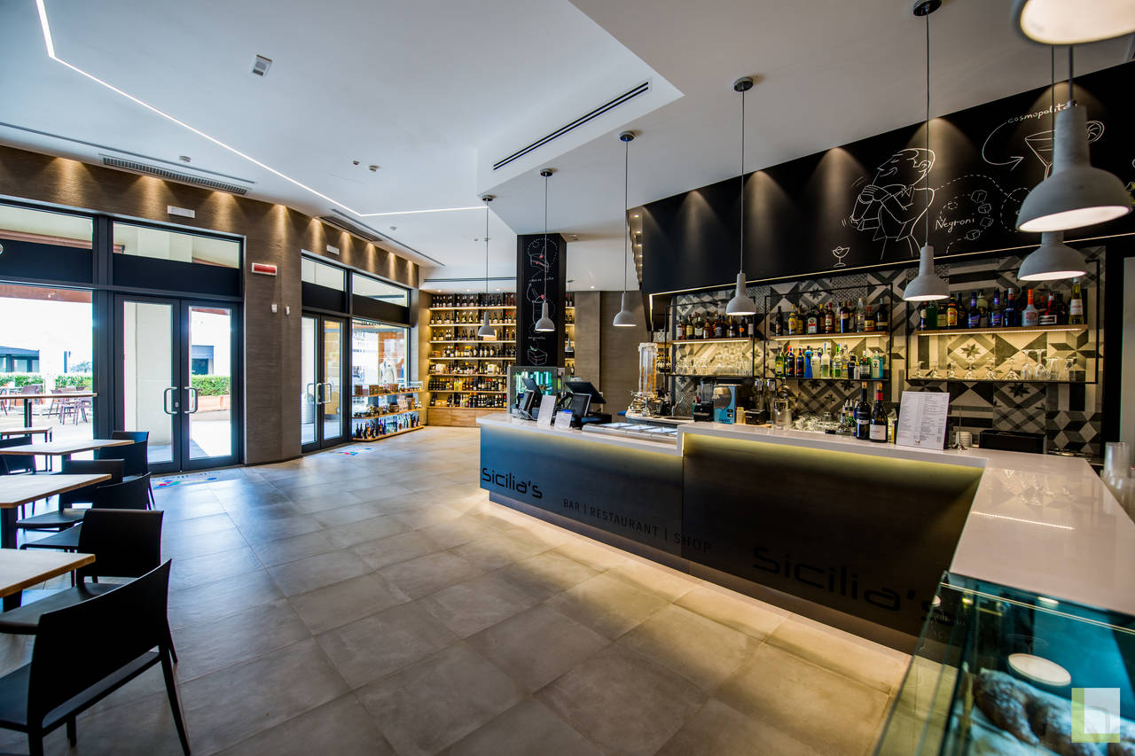 Collezione Terra di Fap ceramiche per i bar & shop della catena Sicilia's