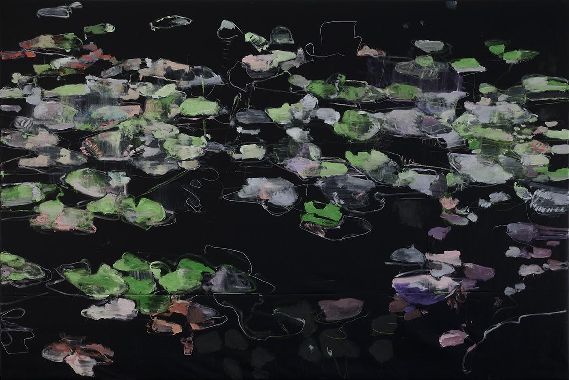 Ninfee, 2015 200x300 cm olio su tela