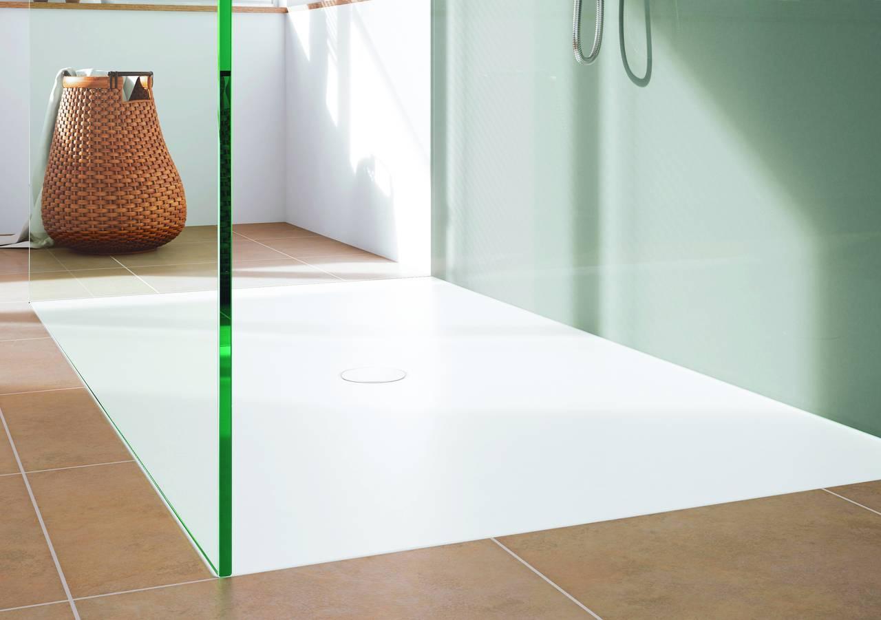 Piatti doccia smaltati a filo pavimento kaldewei area - Posa piatto doccia prima o dopo piastrelle ...