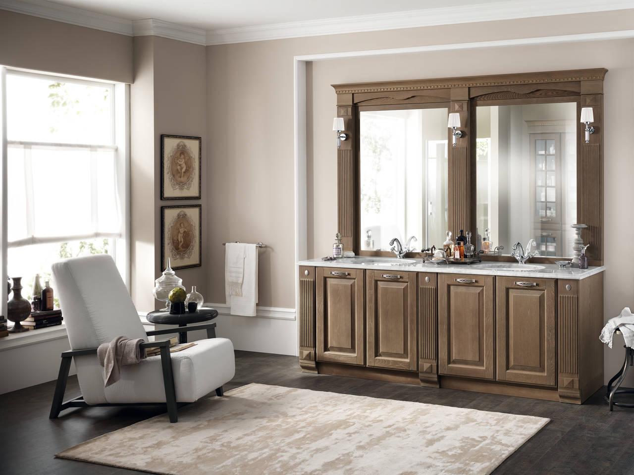 Ambiente bagno arredato con la collezione Baltimora di Scavolini Bathrooms