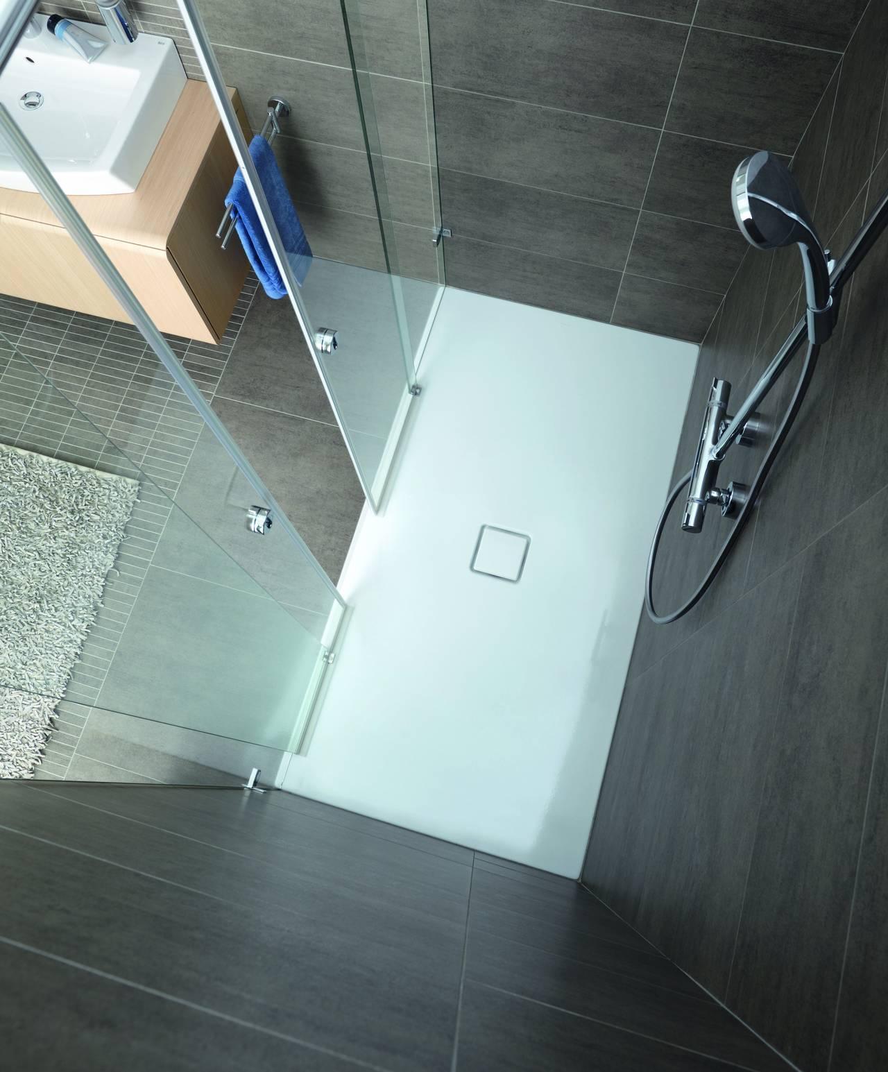 Piatti doccia smaltati a filo pavimento kaldewei area - Posare un piatto doccia ...