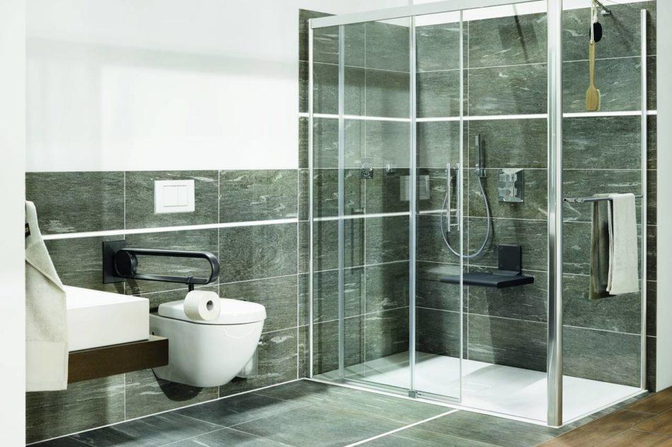 Piatti doccia smaltati a filo pavimento kaldewei area for Pavimento senza fughe