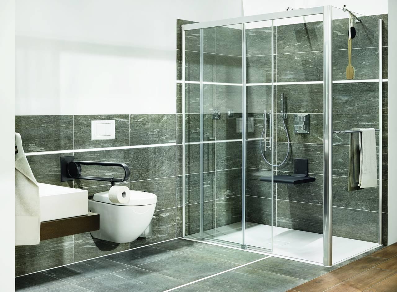 Piatti doccia smaltati a filo pavimento kaldewei area - Doccia a pavimento mosaico ...