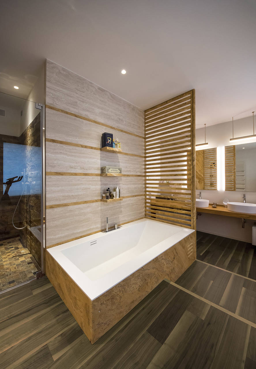 Il noce americano di cadorin per una residenza a faenza area - Parquet nel bagno ...