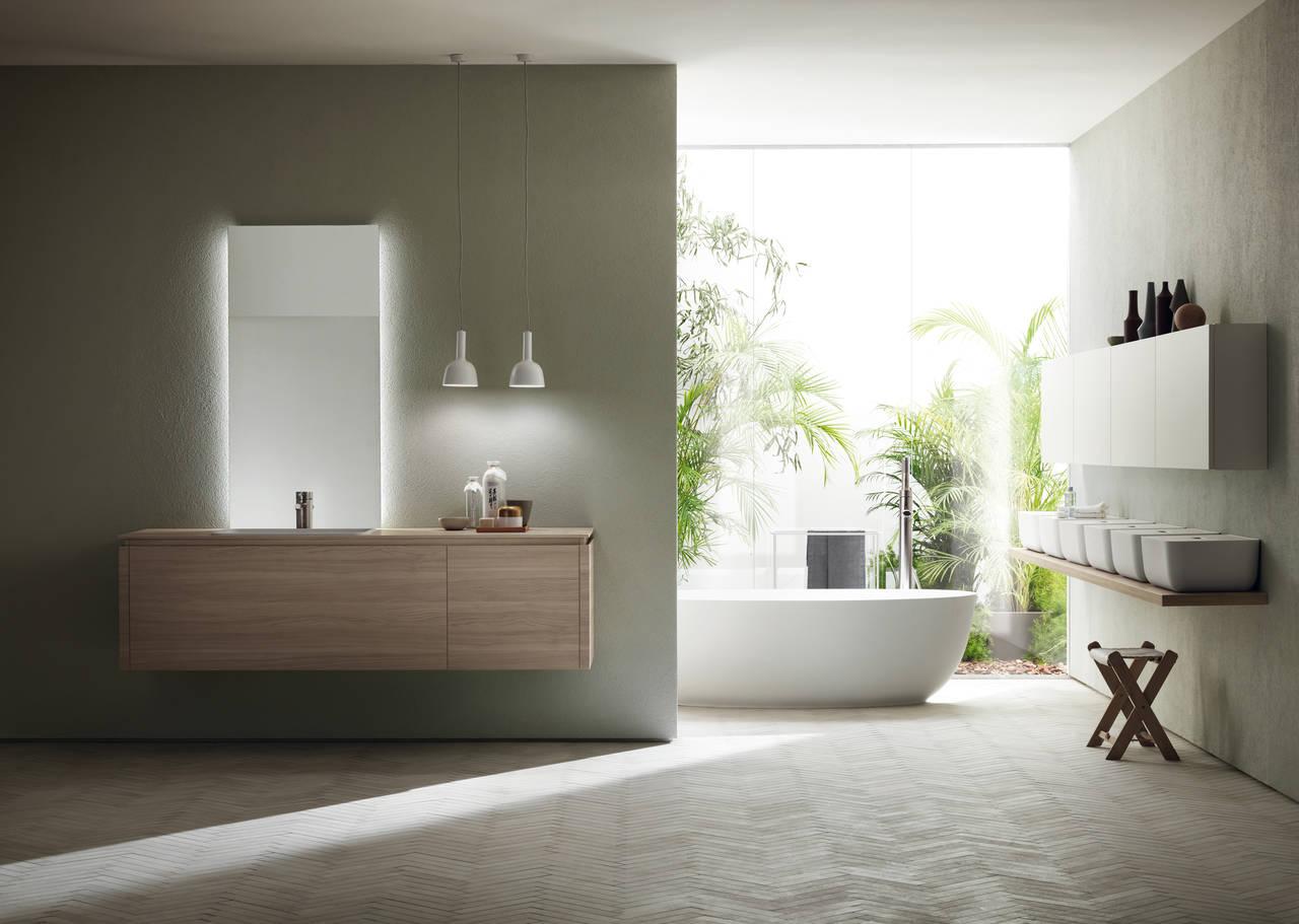 Il calore del legno con scavolini bathrooms area for Design bagno 2016