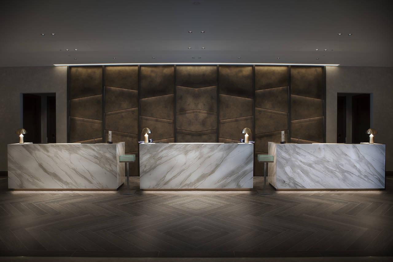 Neolith per l 39 hotel hilton di milano area for Hotel hilton milano
