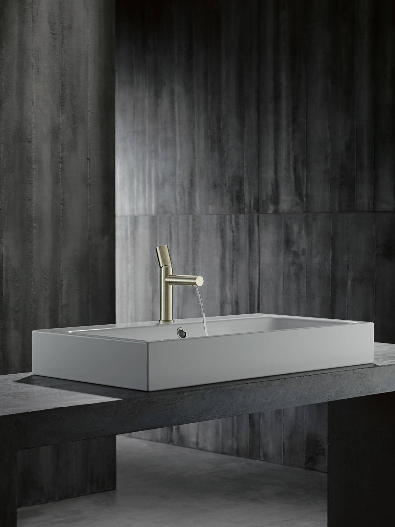 Axor Uno miscelatore monocomando lavabo con manopola zero nickel spazzolato