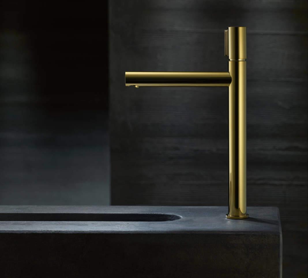 Axor Uno miscelatore monocomando per lavabo 260 con tasto select gold
