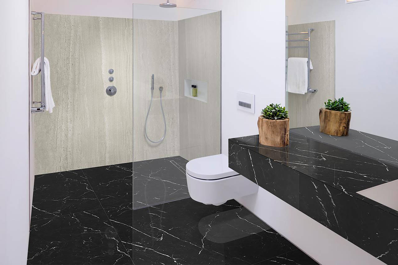 _suelo-polished-nero-marquina_paredes-riverwashed-strata-argentum_encimera-polished-nero-marquina_bano-001