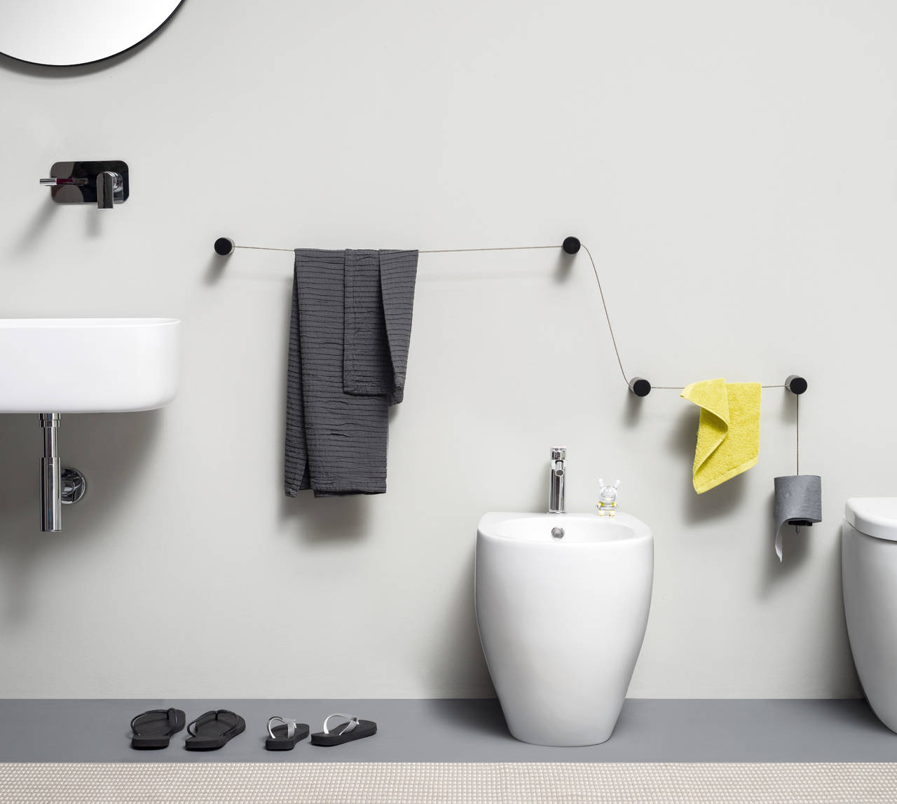 Cavo cilindro accessori dot i complementi di ever life for Accessori bagno di design