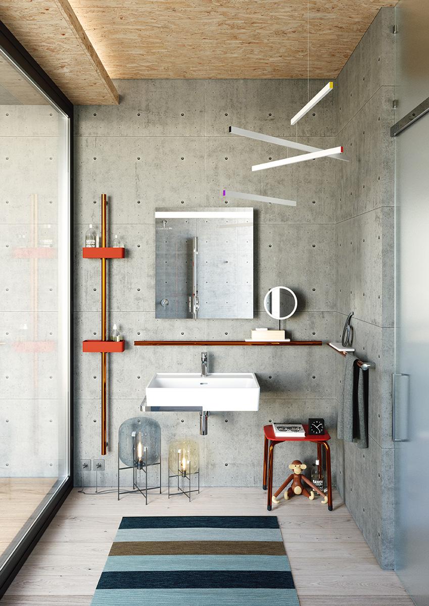 Sistema d 39 arredo bagno hug by ponte giulio area - Pitturare piastrelle bagno ...