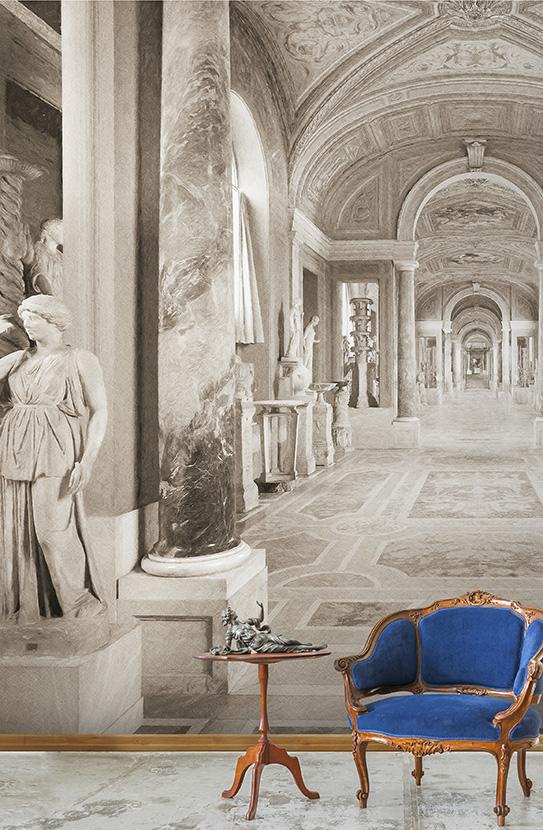 Perspectiva: veduta verso Scala Simonetti, Galleria dei Candelabri (Vaticano)