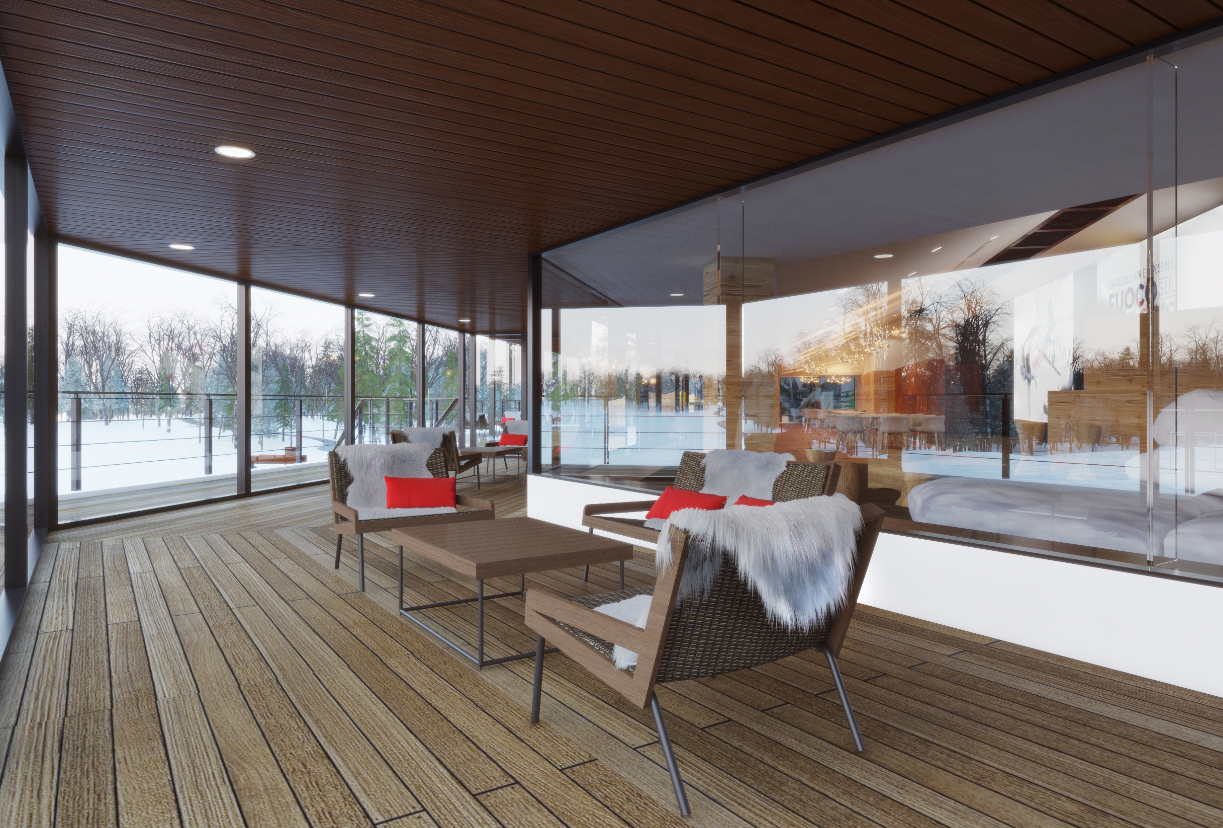 ethimo per casa italia ai giochi olimpici invernali 2018 area. Black Bedroom Furniture Sets. Home Design Ideas