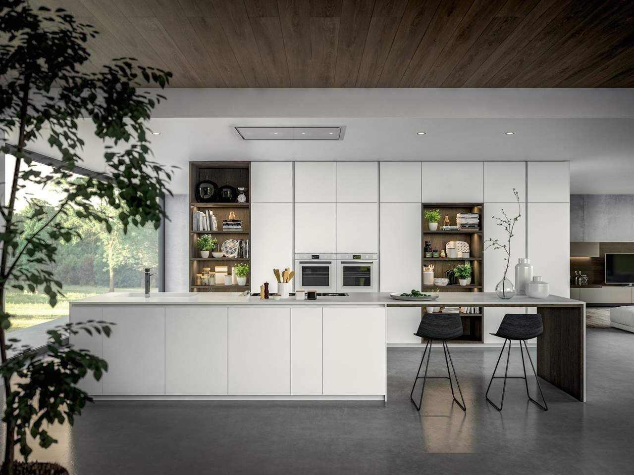 La nuova yota by armony cucine in solid surface hi macs area