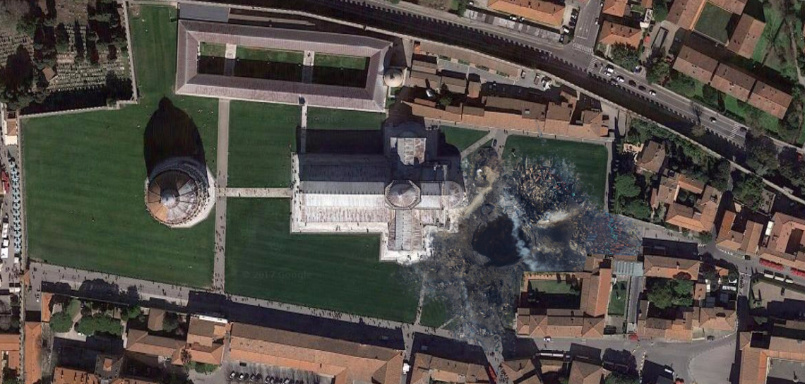 Pisa dopo l'attacco