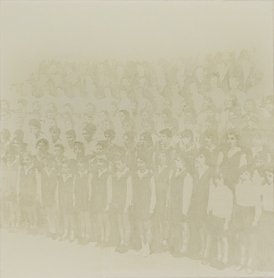 Dimitri Agnello, Choir, 2018. Olio su cotone, 160x160 cm