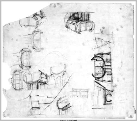 Studi, Teatro Popolare di Sciacca, Agrigento, 1973-83. Università Iuav di Venezia, Archivio Progetti, Fondo Bastiana e Francesco Dal Co