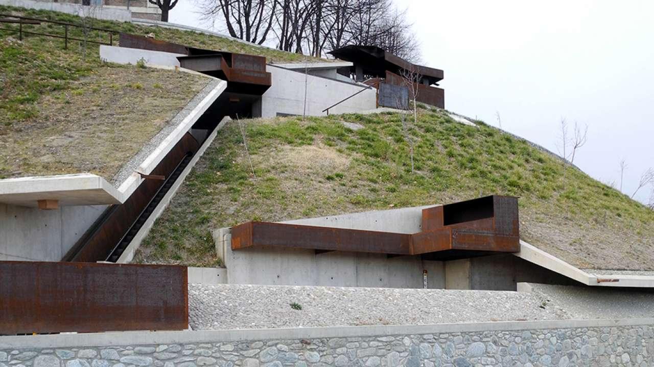 Scale Di Risalita Casa pedestrian connections to the castle of rivoli   area