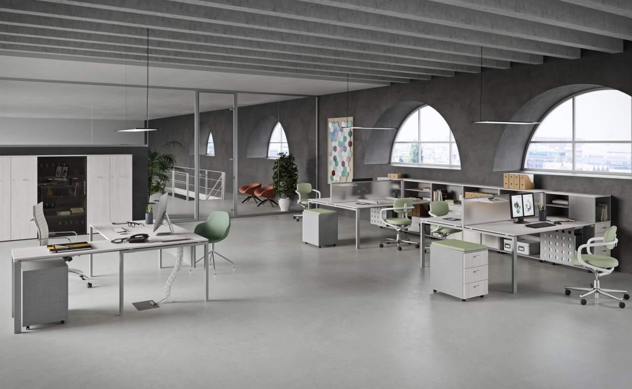 Ufficio Bianco E Grigio : Vista essence: la linea funzionale e leggera di newform ufficio area