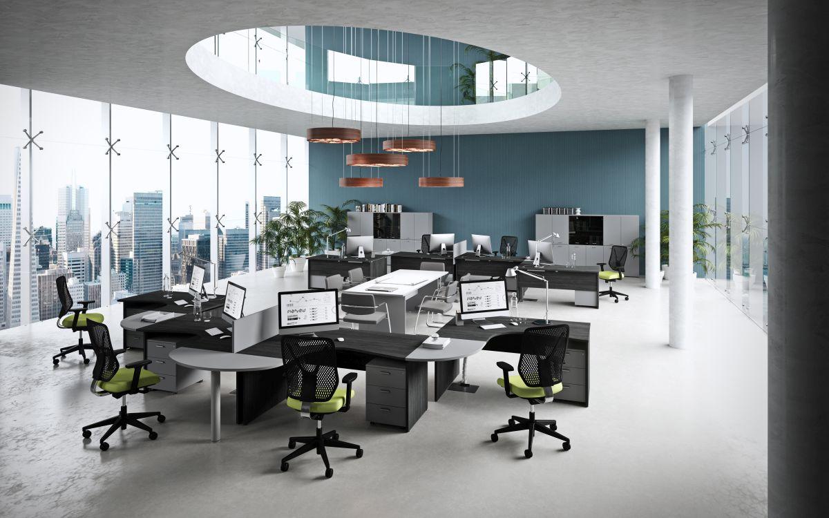Ufficio In Condivisione Rimini : Kamos pure by newform ufficio per ambienti open space area