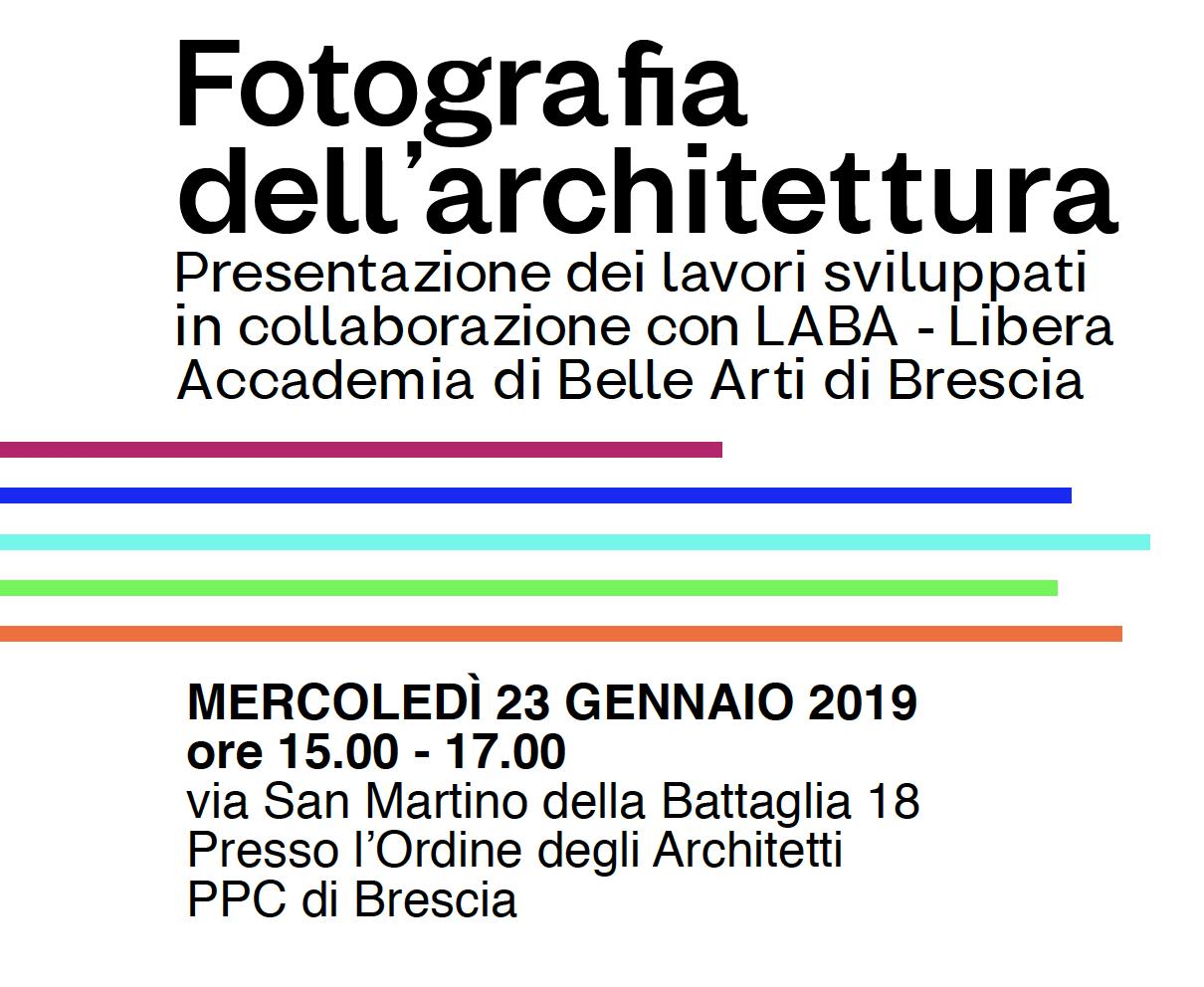 Ordine Architetti Brescia Lavoro fotografia e architettura | area