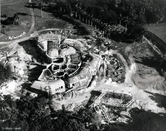School of Dramatic Art - Aerial view of the school under construction ©Vittorio Garatti 1961-1964